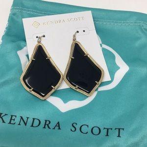 Kendra Scott Alexandra Black / Gold EUC